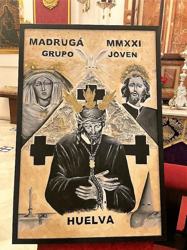 El grupo joven del Nazareno presenta su cartel oficial de la Semana Santa, obra de Alonso Sánchez