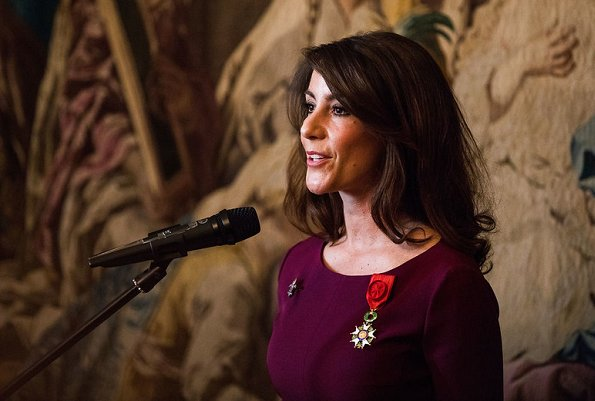 Princess Marie of Denmark received the National Order of the Legion of Honour by a ceremony held at French Embassy in Denmark.