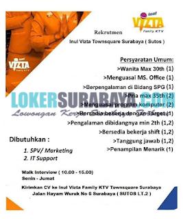 Karir Surabaya Terbaru di Inul Vizta Townsquare (Sutos) Juni 2019