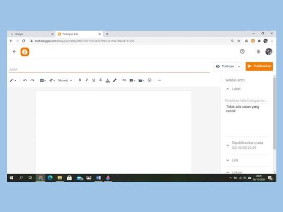 cara membuat postingan, fitur pada halaman saat membuat artikel