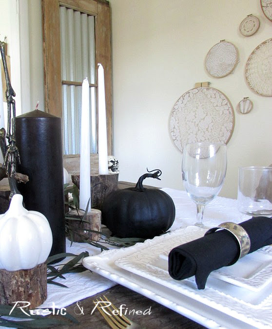 Rustic Halloween Tablescape