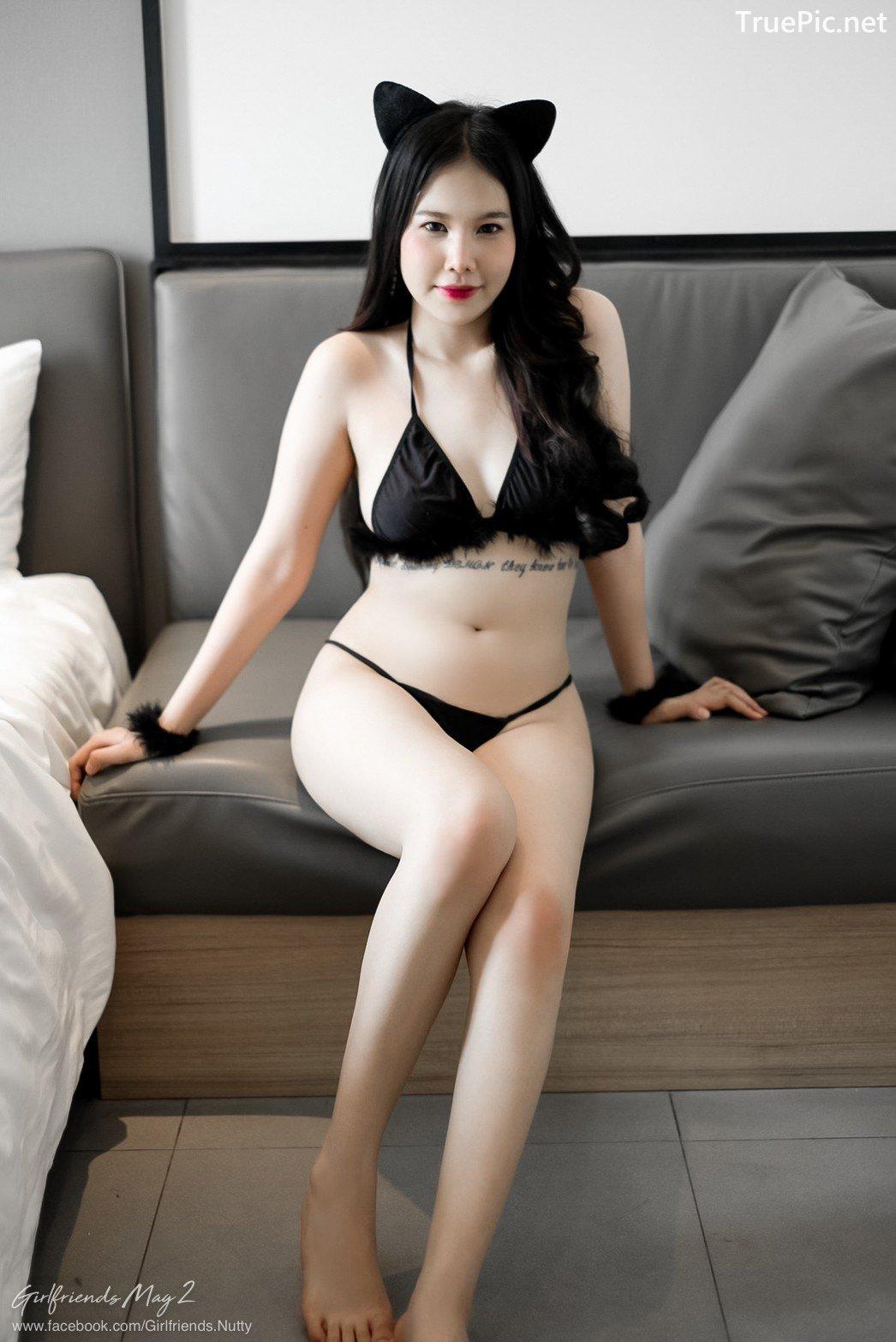 Image Thailand Model - Chanunshida Phuangsombut - Sexy Black Cat - TruePic.net - Picture-2