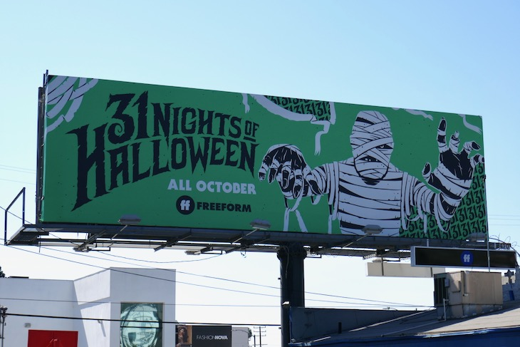 31 Nights of Halloween Mummy Freeform billboard