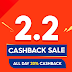 Enjoy flash deals and up to 20% coins cashback on Shopee 2.2 Cashback Sale until February 2, 2021
