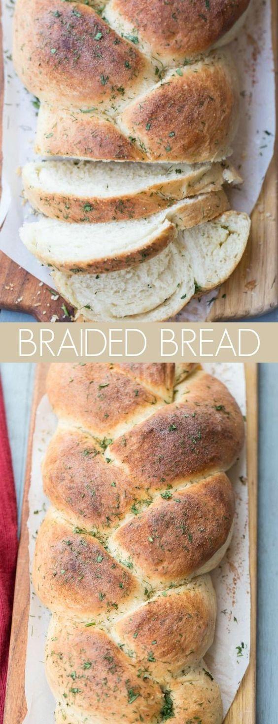 Butter Herbs Braided Bread