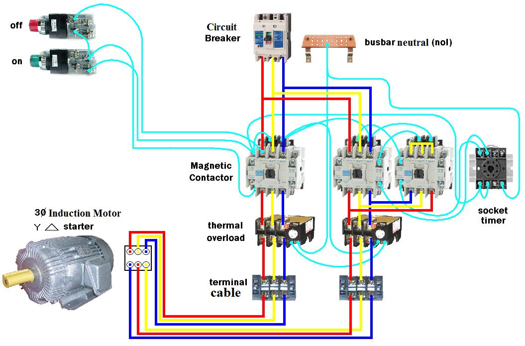 wye delta control wiring diagram