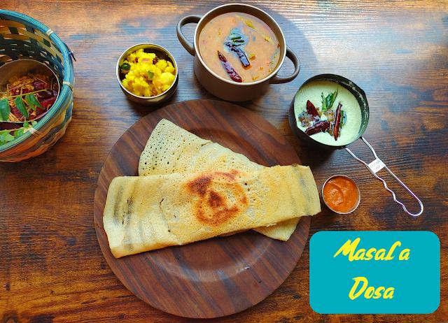 Masala-dosa-sambar-chutney-recipe