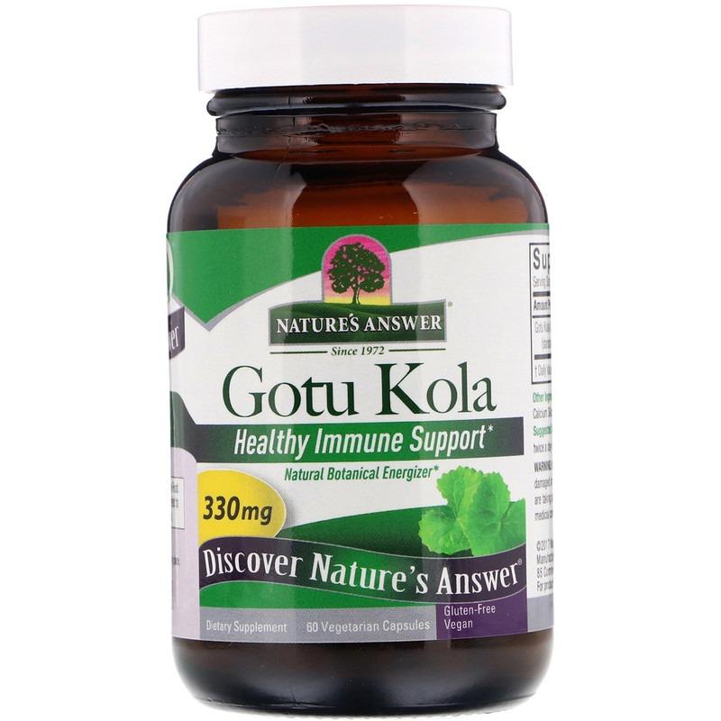 Nature's Answer, Центелла азиатская, поддержка здорового иммунитета, 330 мг, 60 растительных капсул