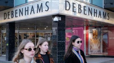 سلسلة متاجر دبنهامز Debenhams البريطانية لتجارة التجزئة تغلق أبوابها !