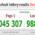 Thailand Lottery Result Live 01-12-2018