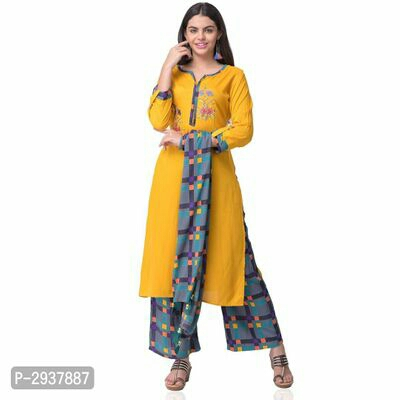 Kurta Sets, women kurta set, women top Bottom Set, Fabulous Womens Kurta Sets, Party Wear Printed Rayon Kurta Sets, Women Kurta Sets,