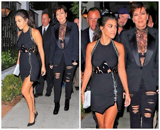 Kris Jenner and Kourtney Kardashian step out in style