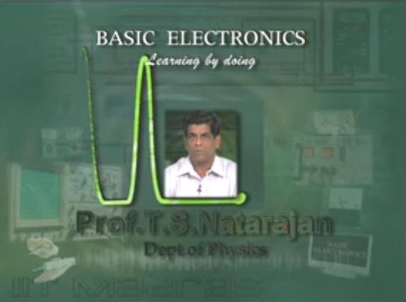 Lecture Series on Basic Electronics by Prof. T.S.Natarajan