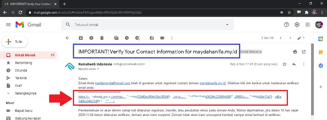 verifikasi contact
