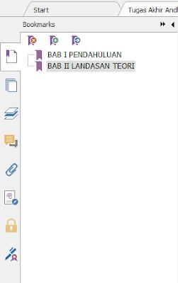 hasil membuat Bookmark dari File PDF yang Sudah Dibuat
