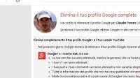 Cancellare il profilo Google+