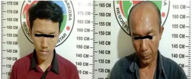 Gawat,!! Bapak dan Anak 'kompak' jadi Pengedar Narkoba, Diringkus Polisi Berbarengan