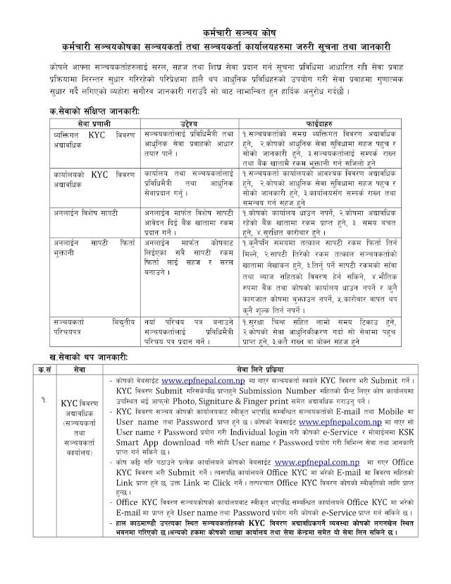 कर्मचारी सञ्चयकाेषका सञ्चयकर्ता तथा सञ्चयकर्ता कार्यालयहरूमा सुचना तथा जानकारी (Notice to all account holder of Employee Provident Fund) || Business Partner Nepal.