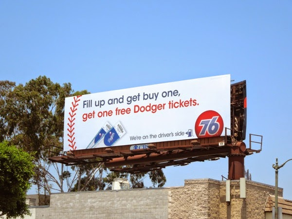 76 gas Dodger tickets billboard