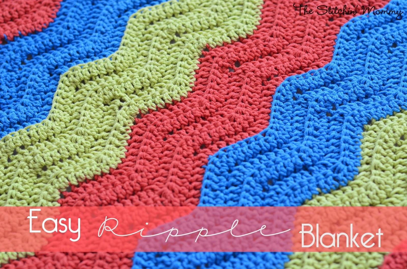 Easy Crochet Ripple Blanket www.thestitchinmommy.com