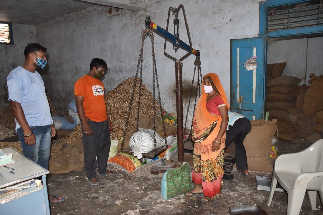 Lady Sell Raw Mango Process