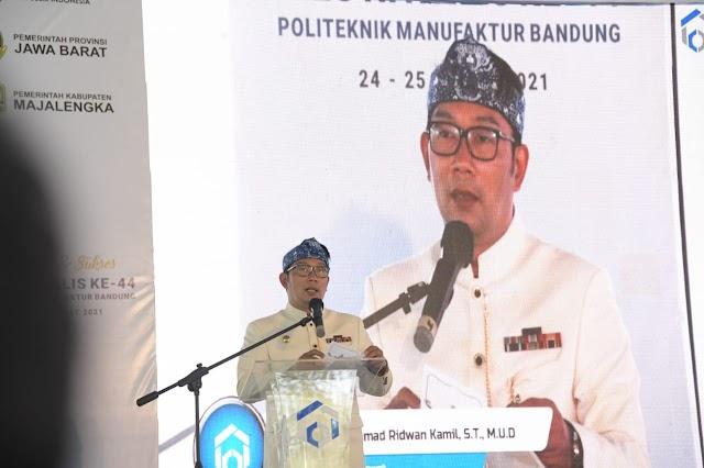 Gubernur Jabar Berharap Kampus Polman Majalengka Dapat Meningkatan Kualitas SDM Ciayumajakuning