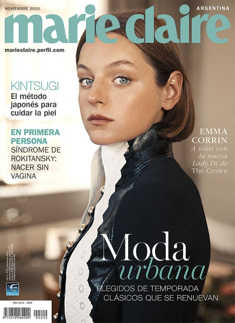 Emma Corrin Clicked on the Cover of Marie Claire Magazine - Argentina November 2020