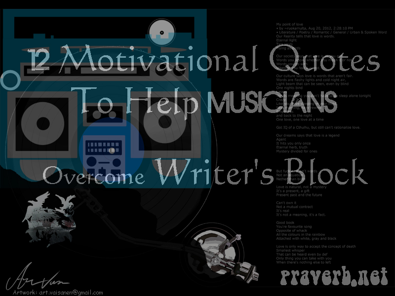 12 Motivational Quotes To Help Musicians Overcome Writer's