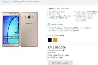 Harga dan Promo Samsung Galaxy On7