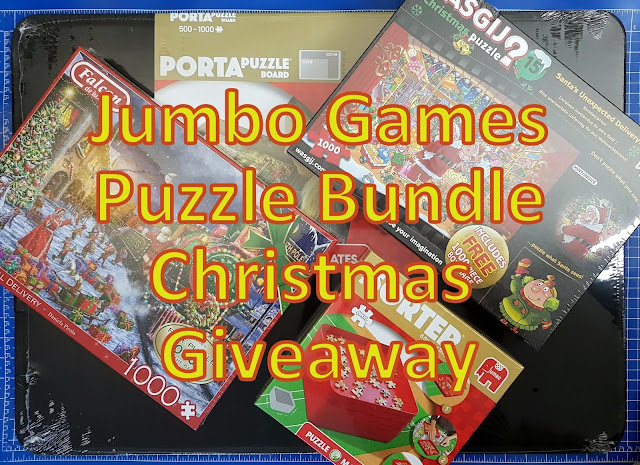 Christmas Giveaway Jumbo Games Puzzles Bundle sent for review