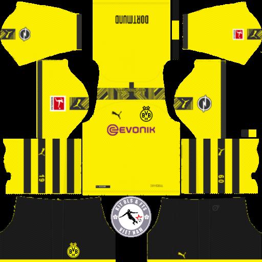 Kits Borussia Dortmund 2019 - 2020 Dream League Soccer 2019 & First Touch Soccer