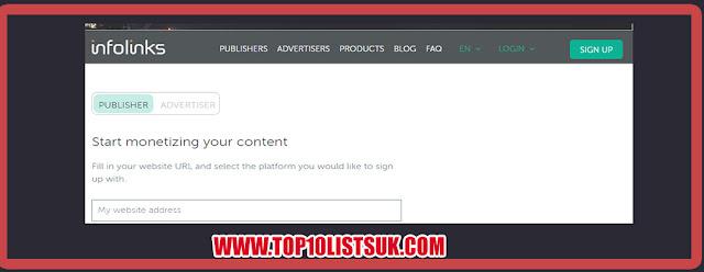 Infolinks Best Pop Under Adnetwork