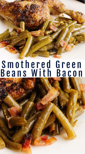 This simple side dish is popular enough to be welcomed at your holiday table and easy enough to make it for a regular family meal. The green beans get a ton of flavor from brown sugar, soy sauce, butter and a bit of garlic. Of course the crispy bits of bacon don't hurt either.