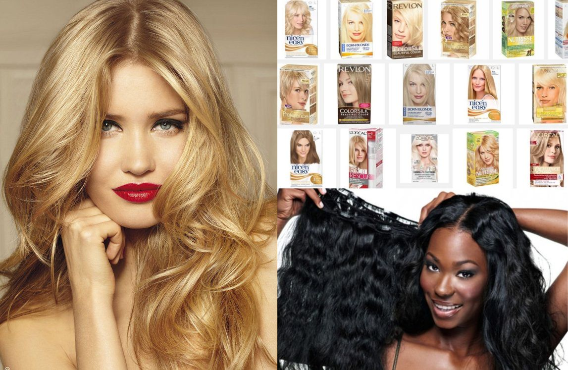 Black Chick A Little Rocked Weaves Blond Hair Dye And Post