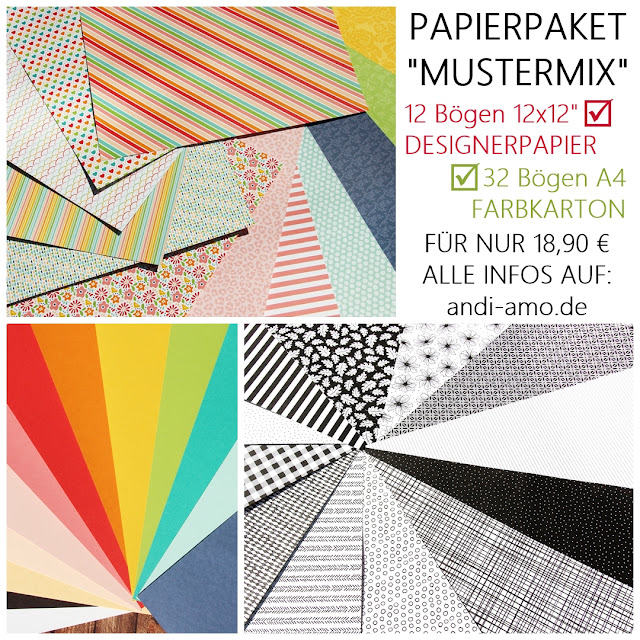 Papierpaket Mustermix Designerpapier & Farbkarton bestellen