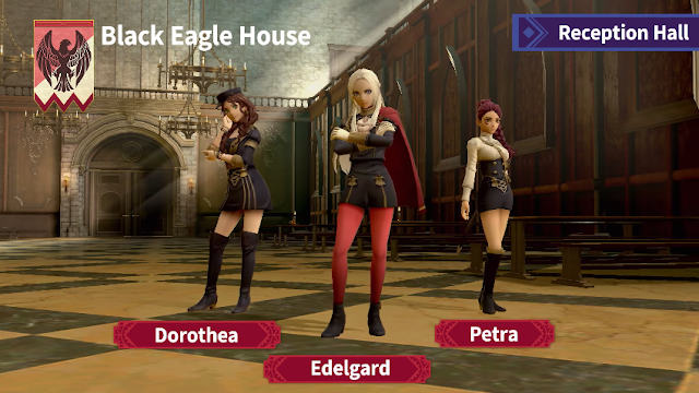 Garreg Mach Monastery Super Smash Bros Ultimate Reception Hall Dorothea Edelgard Petra Black Eagles House