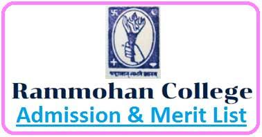 Rammohan College Merit List