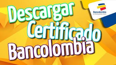 Certificado De Cuenta Bancolombia 2021