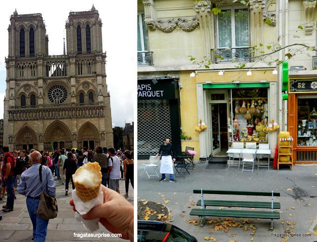 Sorvete da Berthillon e uma queijaria de Paris