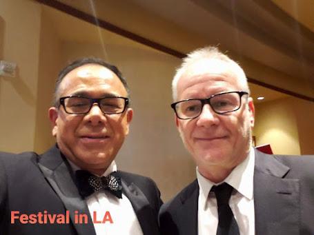 Thierry Frémaux and film critic Jose Alberto Hermosillo