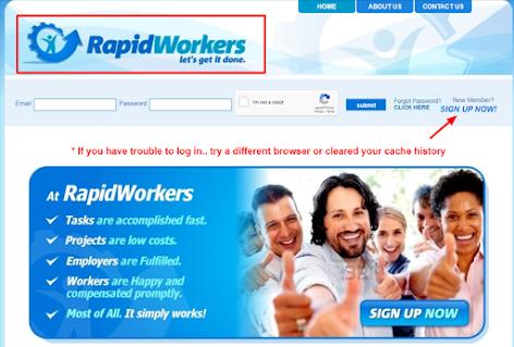 rapidworkers.com website se paise kamaye