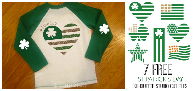 Silhouette Studio, free cut files, St. Patrick's day