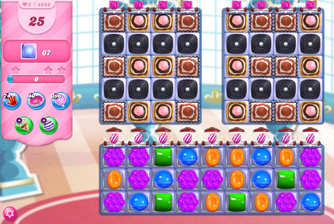 Candy Crush Saga level 4838