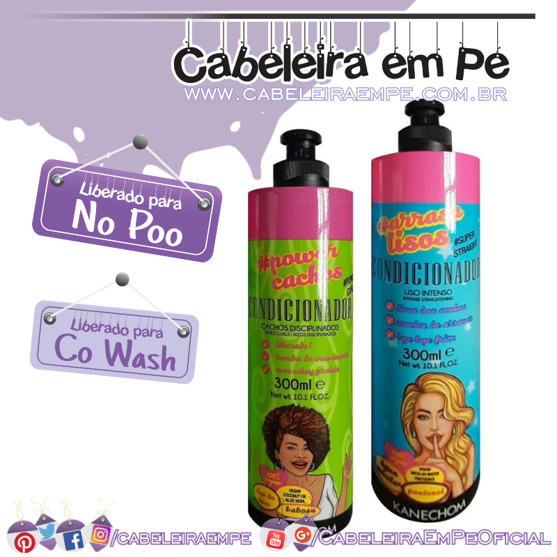 Condicionadores # Power Cachos e # Arrasa Lisos - Kanechom (No Poo e co wash)