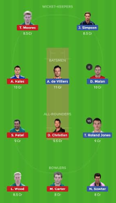 MID vs NOT dream 11 team | NOT vs MID