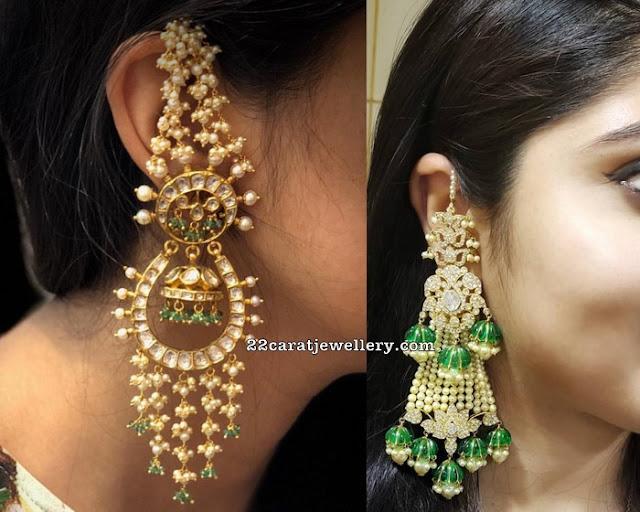 Pearls Tassels Earrings