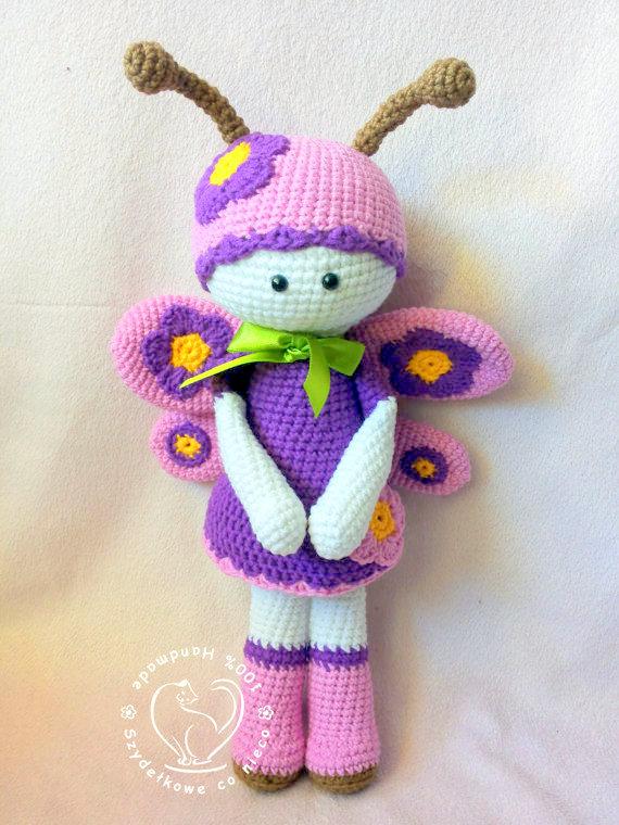 Baby Knitting Patterns Butterfly Amigurumi - Spin a Yarn Crochet | 760x570