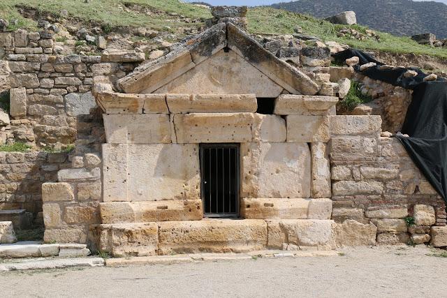 St Philip tomb at Pamukkale, Turkey