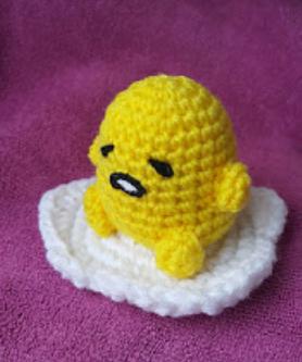 Gudetama by @momomigurumi via ink361.com | Kawaii crochet, Crochet ... | 333x278