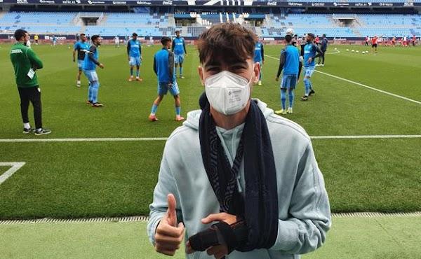 Málaga, Jozabed sufre una fractura en el dedo de la mano izquierda y no juega hoy